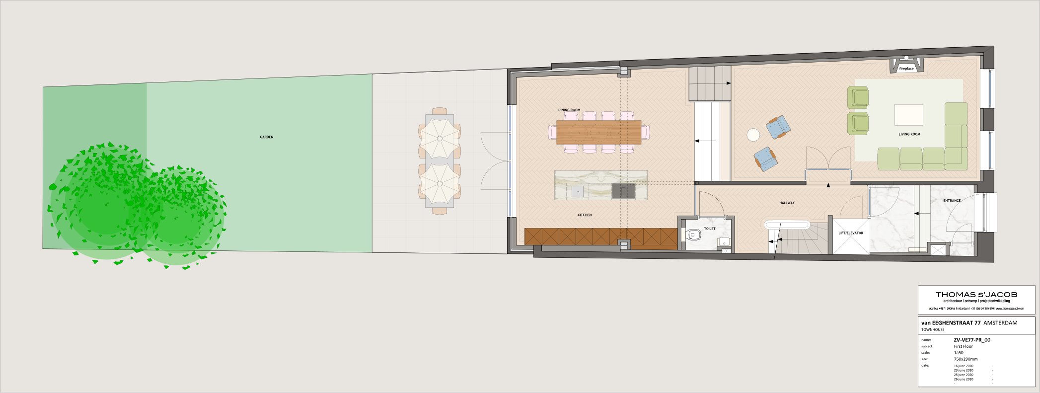 floor plan ven eeghenstraat 77 first floor