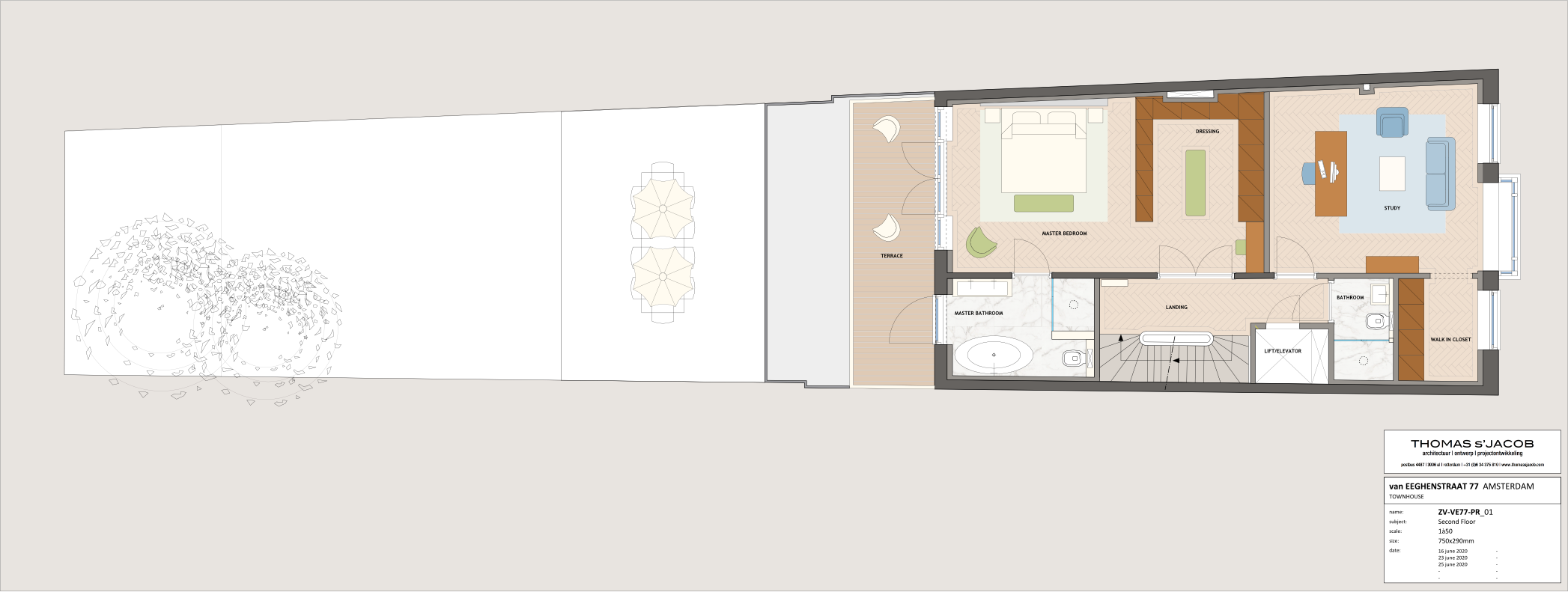floor plan ven eeghenstraat 77 second floor