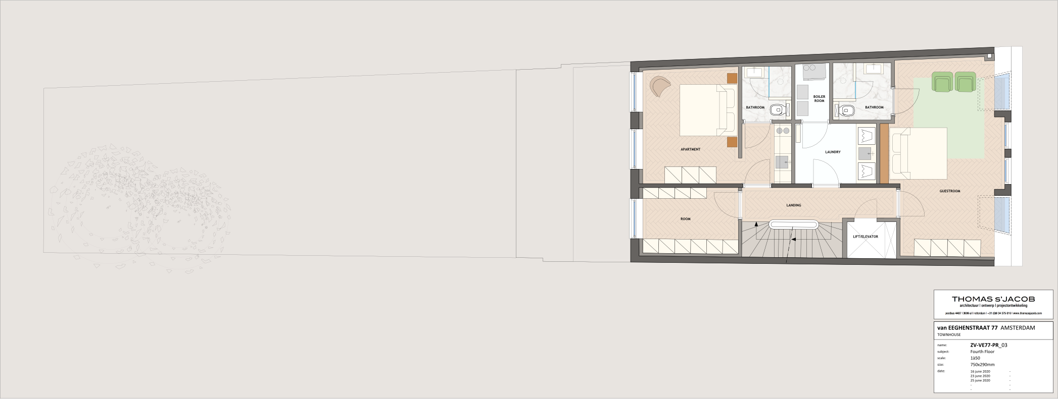 floor plan ven eeghenstraat 77 fourth floor