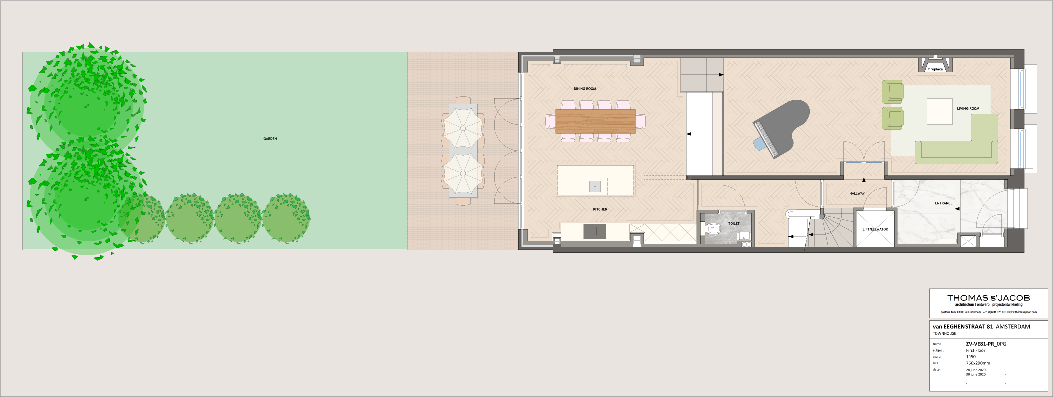 plattegrond de van eegh 81, 1e verdieping