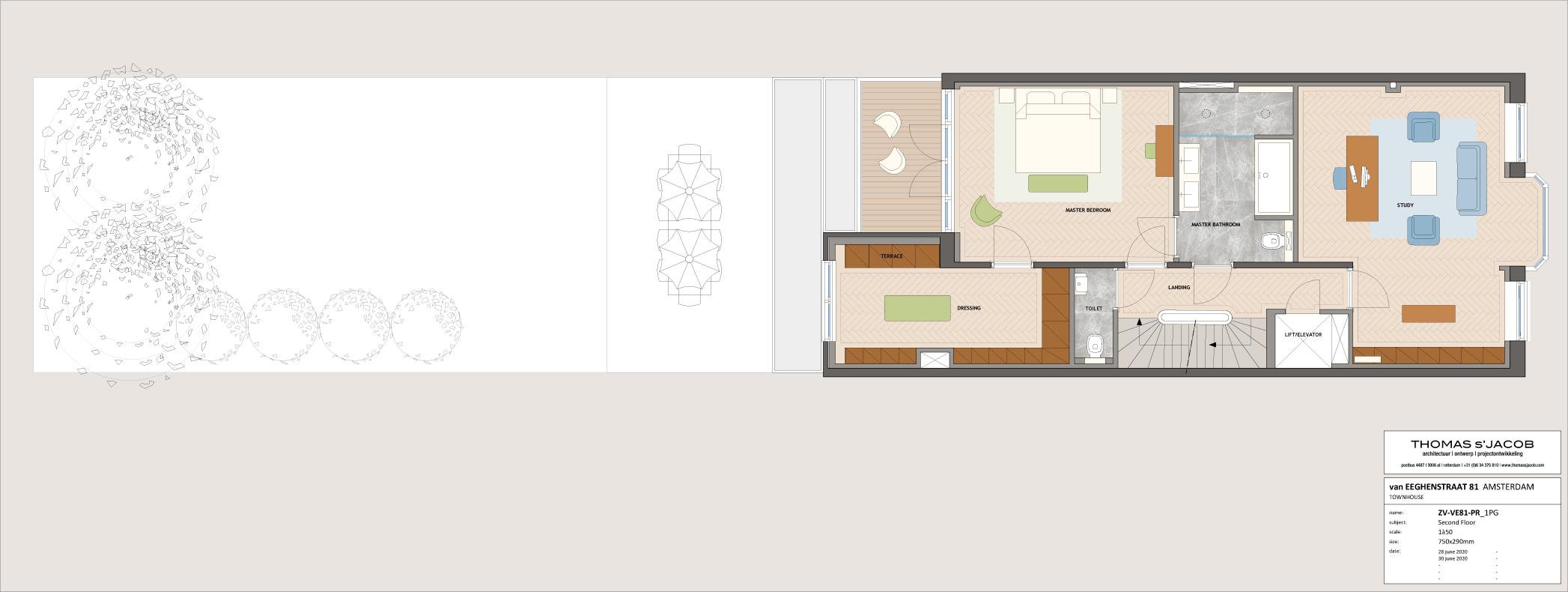 plattegrond van eeghenstraat 81,  2e verdieping