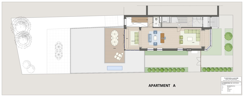 palltegrond van de van eegh 110, appartement a, eerste verdieping