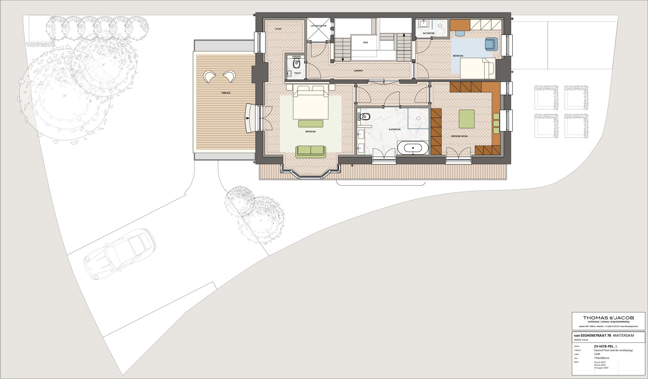 van eeghenstraat 78, plattegrond eerste verdieping/second floor