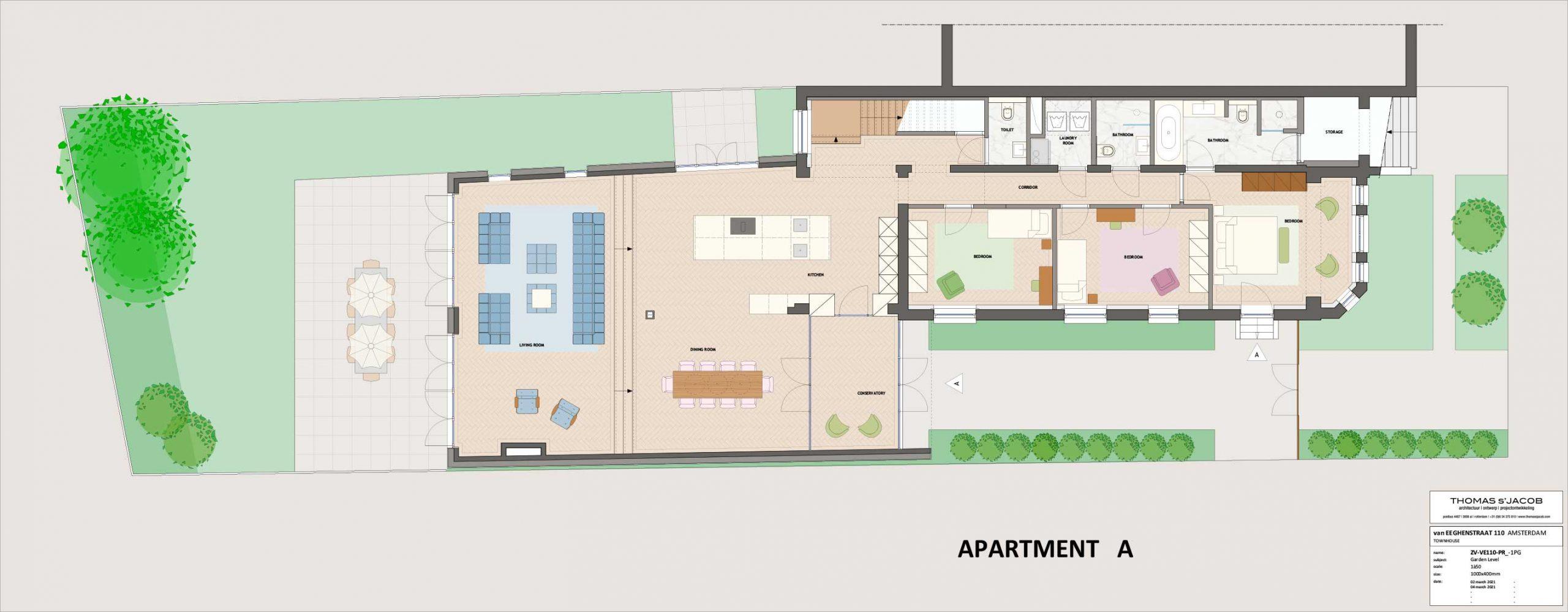 plattegrond vaneeghenstraat 110 appartement A